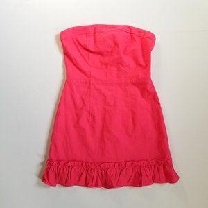 Superdown Strapless Mini Ruffle Dress
